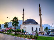 Mosque, Kemer, Turkey Stock Photo