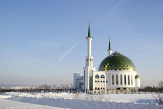 Mosque in Kemerovo city Stock Images