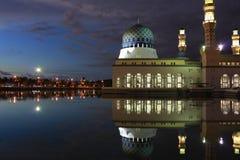 Mosque in Kota Kinabalu Sabah. At night time Royalty Free Stock Image