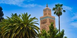 Mosque of Koutoubia in Marrakech, Morocco stock photos