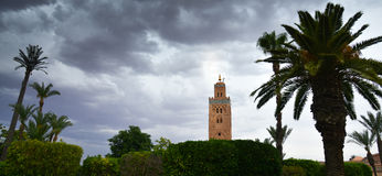 Mosque of Koutoubia in Marrakech, Morocco Royalty Free Stock Images