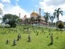 A mosque in Kuching, Malaysia royalty free stock image