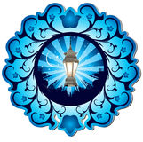 Mosque and lamp Royalty Free Stock Images