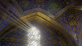 Mosque light's rays Stock Image
