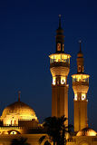 Mosque lights at night Stock Photography