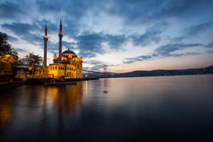 Mosque in Long Exposure Stock Image