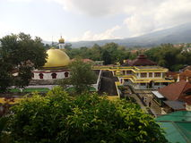 Mosque. Looked from above hill in tasikmalaya stock photography
