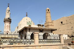 Mosque of Luxor in Egypt Stock Images
