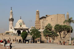 Mosque of Luxor in Egypt Stock Photography