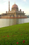 Mosque in Malaysia. The Putrajaya Mosque in Malaysia, captured in the morning Stock Photo