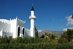 Mosque, Marbella, Spain. Royalty Free Stock Photography