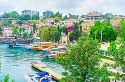 The mosque in marina of Antalya Royalty Free Stock Photo