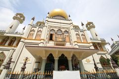 Mosque Masjid Sultan Singapore. Mosque Masjid Sultan in Singapore royalty free stock photos