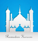 Mosque or Masjid with text Ramadan Kareem Stock Images