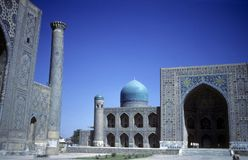 Mosque & medresseh Stock Images