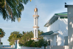 Mosque on Meedhoo, Maldives. Mosque on the island of Meedhoo in the Maldives Royalty Free Stock Photos