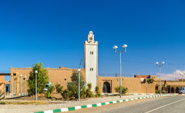 Mosque in Merzouga, a village in the Sahara desert. Morocco. Mosque in Merzouga, a village in the Sahara desert in Morocco Stock Photography