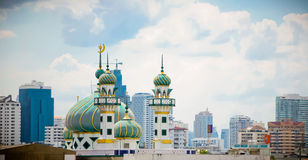 Mosque in Metropolis Stock Photo