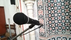 Mosque mic. At the qibla in Egyptian mosque Stock Images
