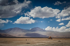 Mosque in the middle of nowhere. Small mosque in the midst of a desert in the Karakorum Highway, Xinjang province, China Stock Photography