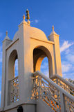 Mosque Minaret. The minaret of a charming small mosque where the muezzin give the call for prayer stock photography