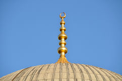 Mosque and Minaret Royalty Free Stock Photos