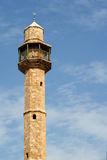 Mosque minaret. In Tel Aviv Royalty Free Stock Photo