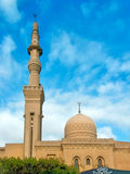 Mosque with minaret. Against blue heaven. Cairo, Egypt stock photos