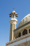 Mosque and minaret Abu Dhabi Royalty Free Stock Photos