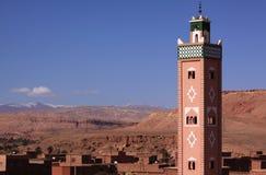 Mosque minaret, Ait Ben Haddou Stock Images