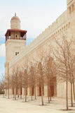 Mosque minaret in Amman. King Hussein Bin Talal mosque minaret in Amman,  Jordan Royalty Free Stock Photography