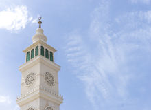 Mosque minaret. With blue skies Royalty Free Stock Photo