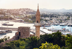 Mosque minaret at Bodrum Royalty Free Stock Photo