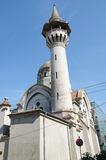 Mosque and minaret in Constanta. Mosque and minaret in center of Constanta city Stock Photography