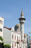 Mosque and minaret in Constanta. Mosque and minaret in center of Constanta city Royalty Free Stock Images