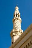 Mosque Minaret, Dubai. The imposing structure of a mosque minaret, Dubai Stock Image