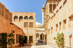 Mosque and minaret in Dubai Royalty Free Stock Photography