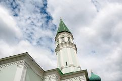Mosque with minaret Husainiy in the city of Orenburg Stock Photo