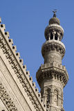 Mosque Minaret - Islamic Architecture. Minaret of one of the famous mosques in Cairo. The capital city of Egypt. Symbol of Islam and islamic culture Stock Photography