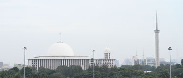 Mosque and minaret in Jakarta Royalty Free Stock Image