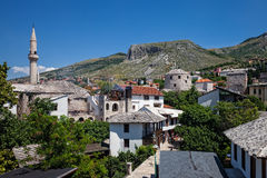 Mosque and minaret in Mostar. Royalty Free Stock Image
