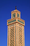 Mosque minaret near Marrakesh Royalty Free Stock Photo