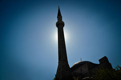 Mosque and minaret Royalty Free Stock Image