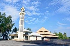 Mosque Minaret. Tanjung Api Mosque Minaret at Kuantan, Pahang royalty free stock image