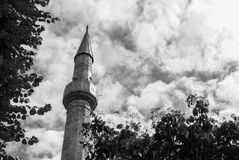Mosque minaret tower Royalty Free Stock Photos