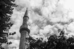 Mosque minaret tower Royalty Free Stock Photos