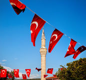 Mosque minaret in Turkey Stock Image