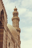 Mosque Minaret  ,Vintage. The Sultan al-Nasir Muhammad ibn Qala'un Mosque is an early 14th-century mosque at the Citadel in Cairo, Egypt Stock Images