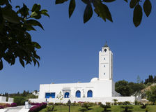 Mosque with minaret Royalty Free Stock Photos