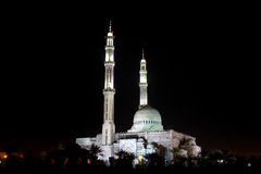 Mosque and minarets. Mosque and two minarets at night, in Sharm el Sheik, Egypt Royalty Free Stock Photo